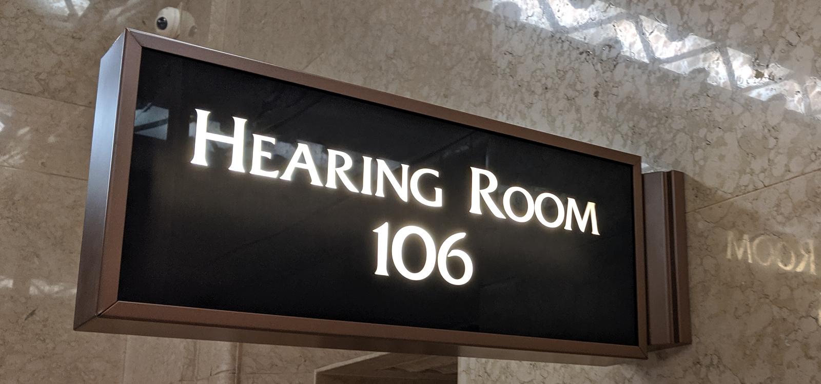 Ohio Supreme Court hearing Room 108