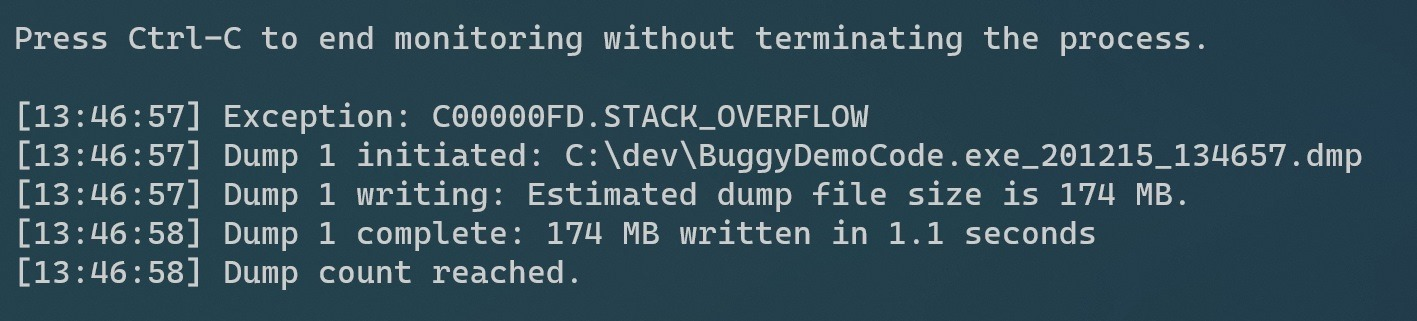 C00000FD.STACK_OVERFLOW