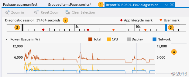 Energy Profile Data (Visual Studio)