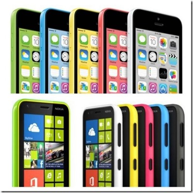 iPhone 5C and Nokia Color comparison