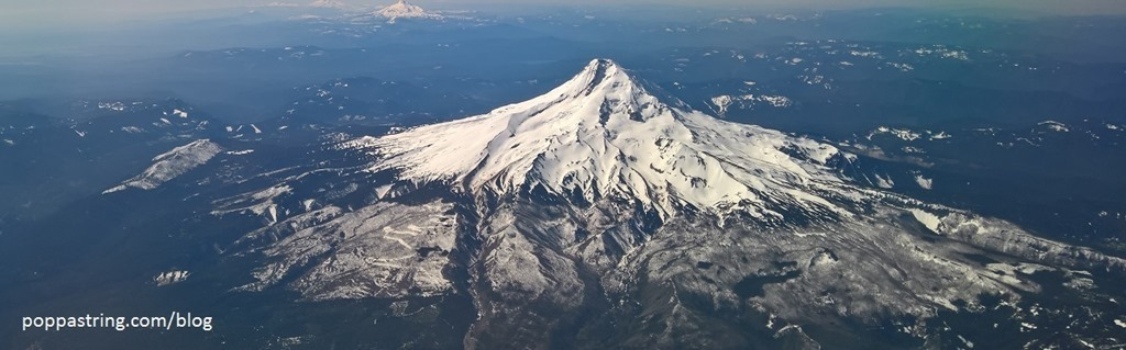 Mt Hood - Flying into Portland, Oregon