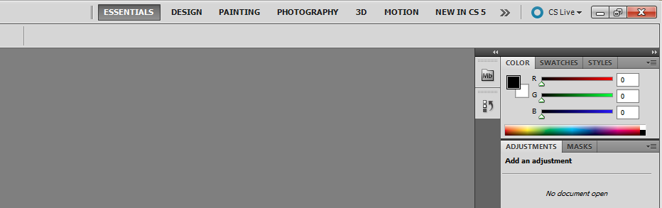 Photoshop - Define a new WorkSpace