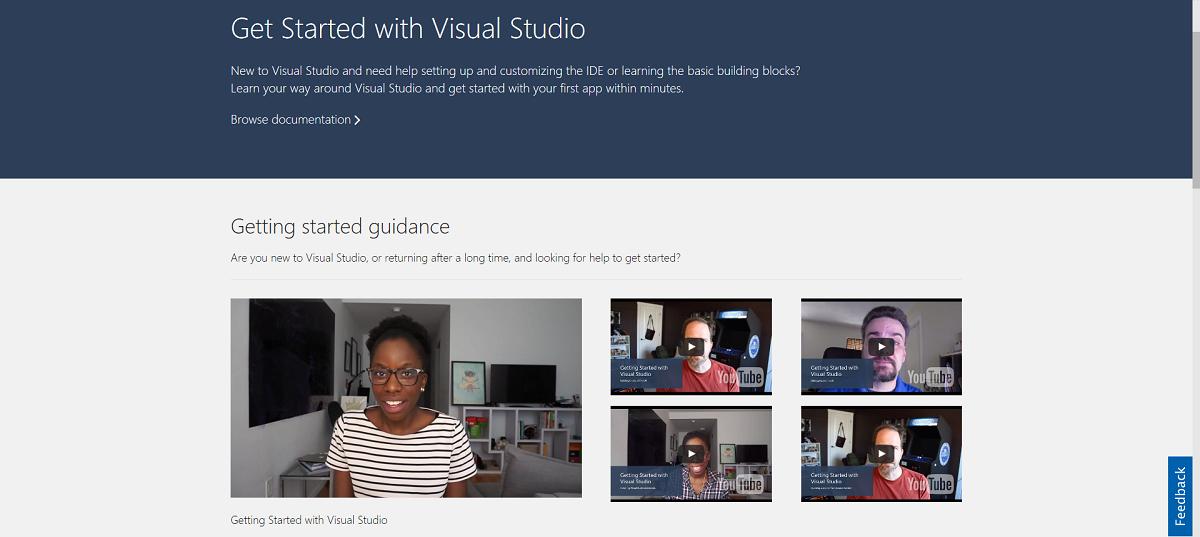 Visual Studio 2017 - Getting started videos