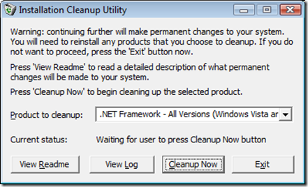 Installation Cleanup Utility